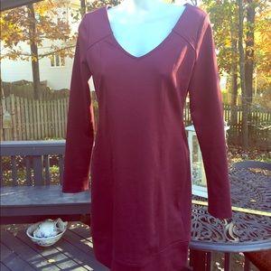 Burgundy bodycon/tunic dress BCBG